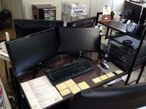 現在のオフィス。機能的で使いやすい。